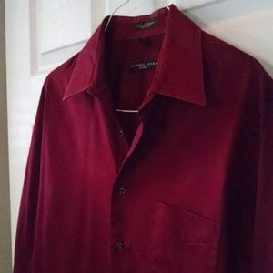 Fitted Maroon Dress Shirt - Geoffrey Beene